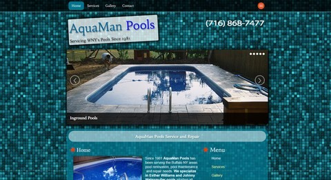 AquaMan Pools Responsive Website Design