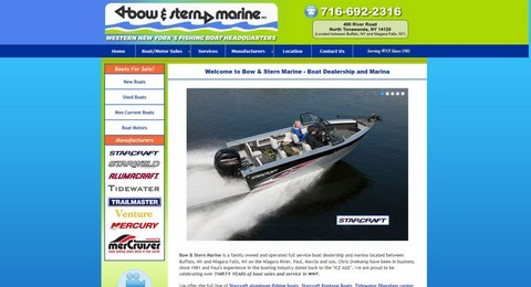 Bow And Stern Marine Website Design