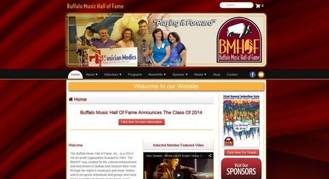 Buffalo Music Hall Of Fame Responsive Website Design