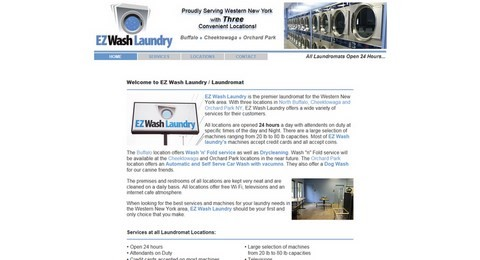 EZ Wash Laundry Website Design
