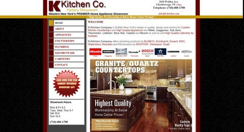 K-Kitchen Website Design