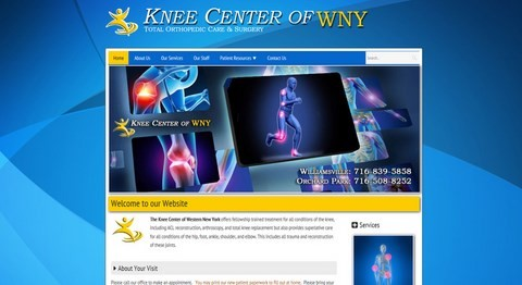 Knee Center Of WNY Responsive Website Design