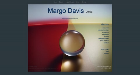 Margo Davis Responsive Website Design