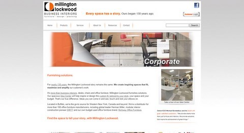 Millington Lockwood Website Design
