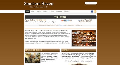 Smokers Haven Responsive Website Design