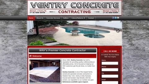 Ventry Concrete Responsive Website Design